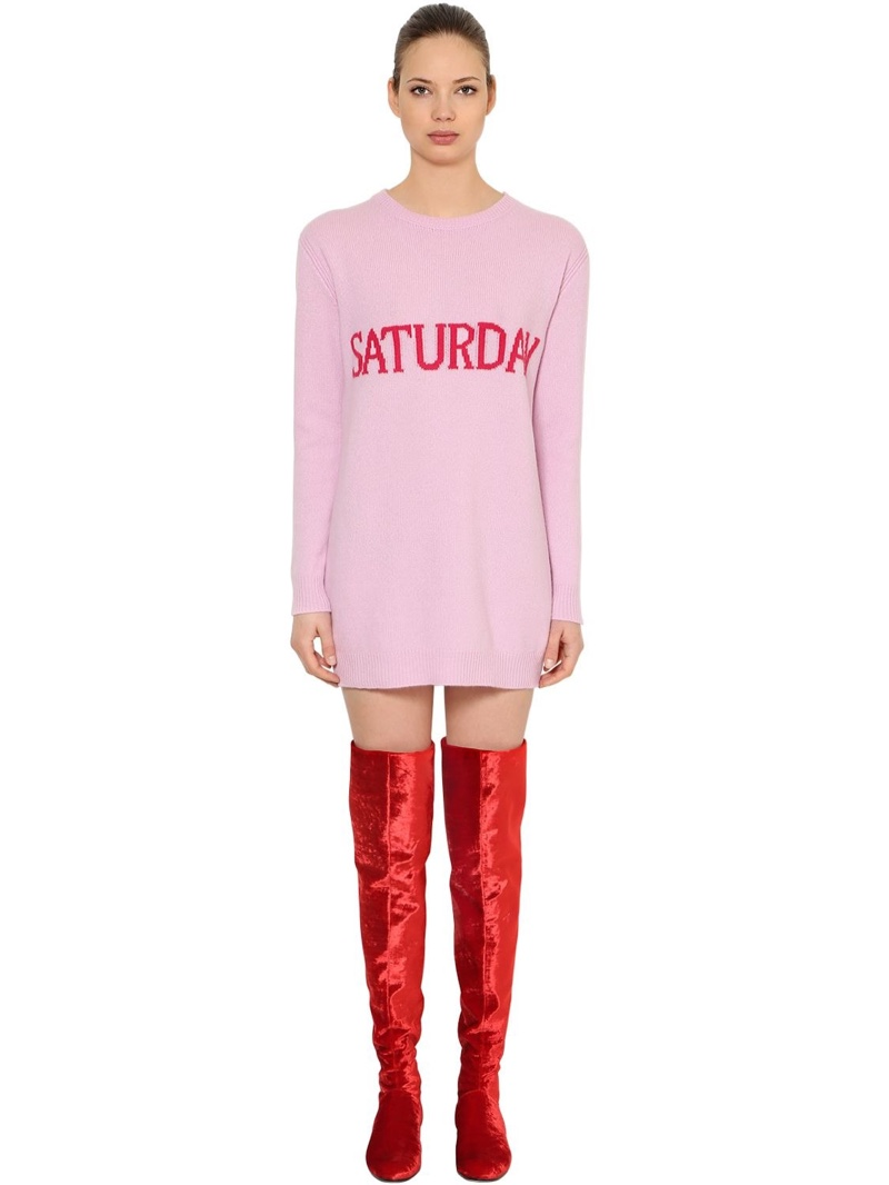 Alberta Ferretti Saturday Wool Cashmere Sweater Dress $525 (previously $750)