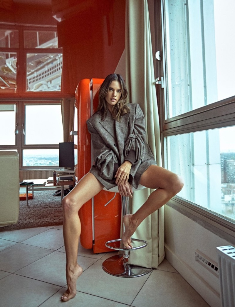Alessandra Ambrosio Models Chic Fashion for Numero Russia