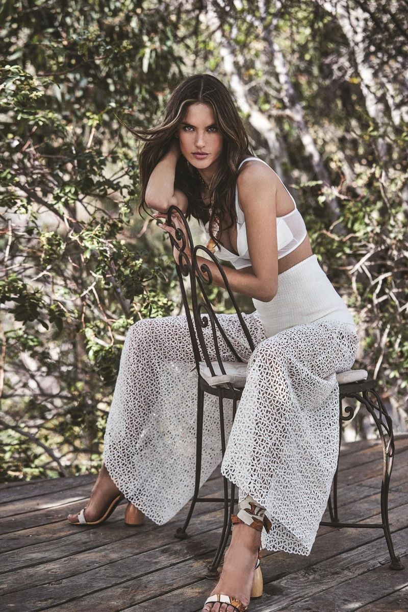 Alessandra Ambrosio Poses in Sunny Outfits for Le Lis Blanc