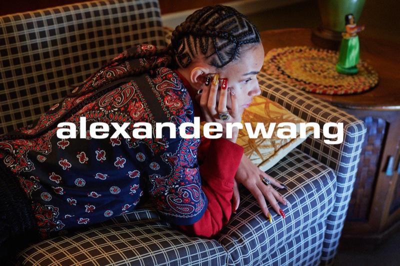 Binx Walton stars in Alexander Wang Collection 1 Drop 1 campaign