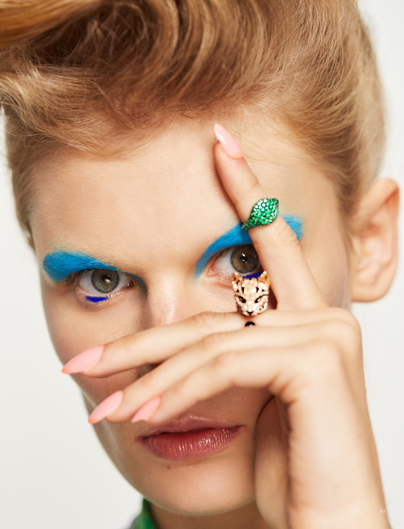 Alexandra Elizabeth Wears Neon Beauty for Harper's Bazaar Kazakhstan