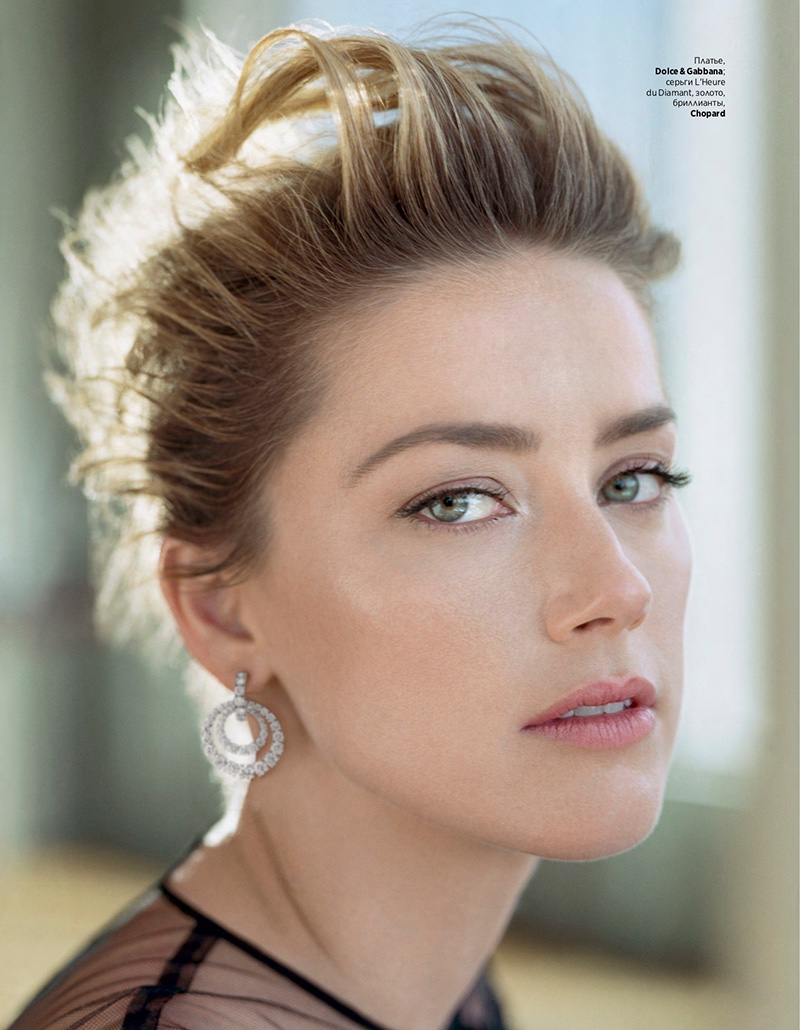 Amber Heard InStyle Russia Alexei Hay Cover Shoot