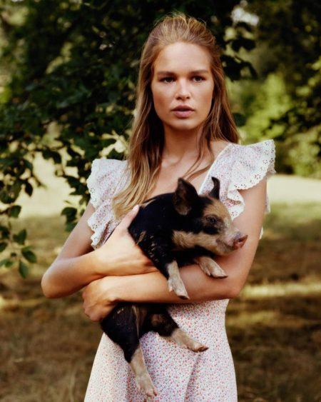 Anna Ewers Embraces Bohemian Fashions for Vogue Paris