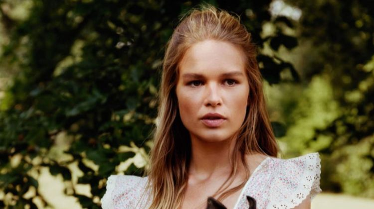 Anna Ewers Embraces Bohemian Fashions for Vogue Paris