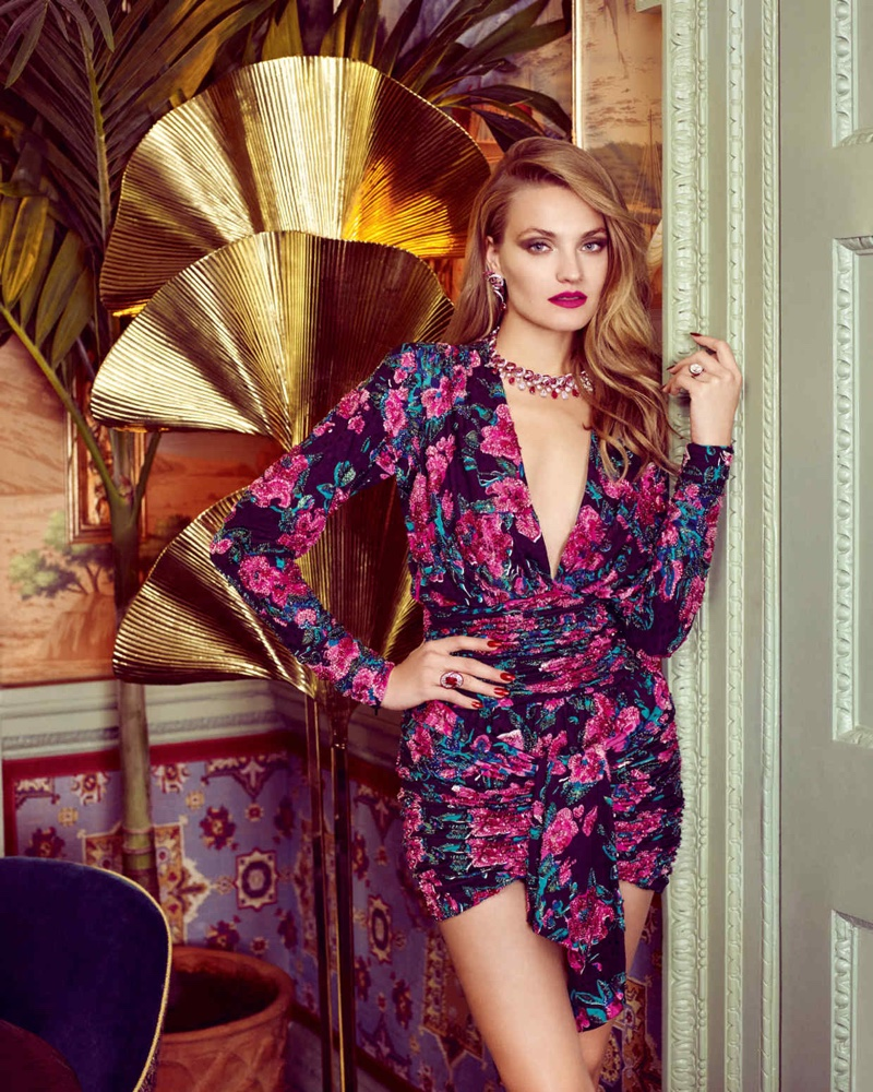 Anna Jagodzinska Models Luxe Evening Wear for How to Spend It