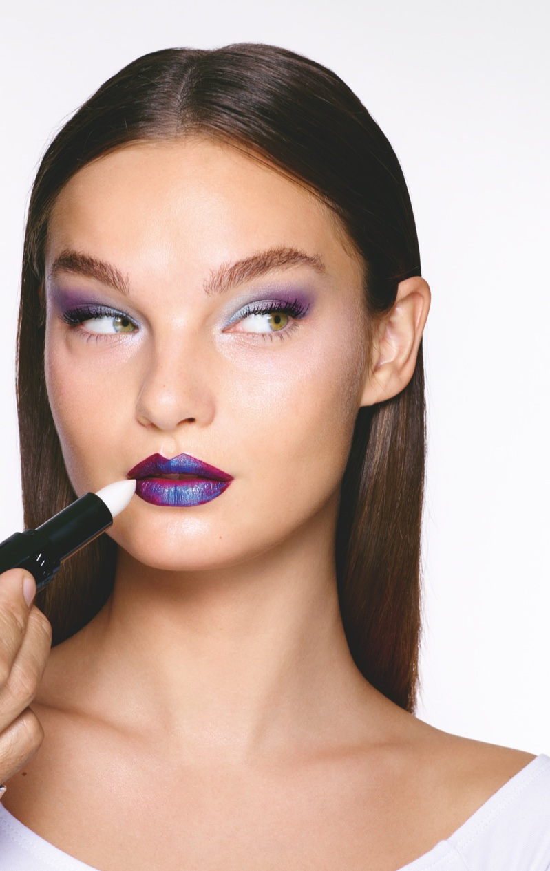 Go Galactic Makeup Look from Avon Winter 2018 Campaign. Photo: Rankin/The Full Service