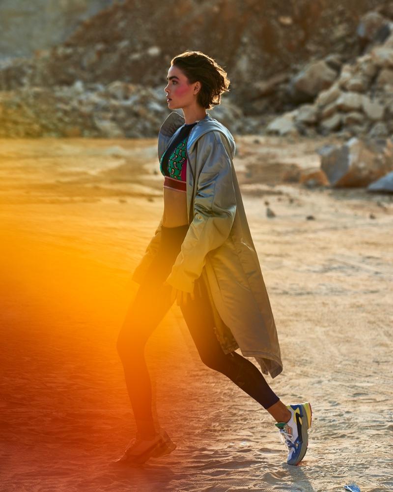 Bambi Northwood-Blyth Wears Sporty Styles for ELLE Czech