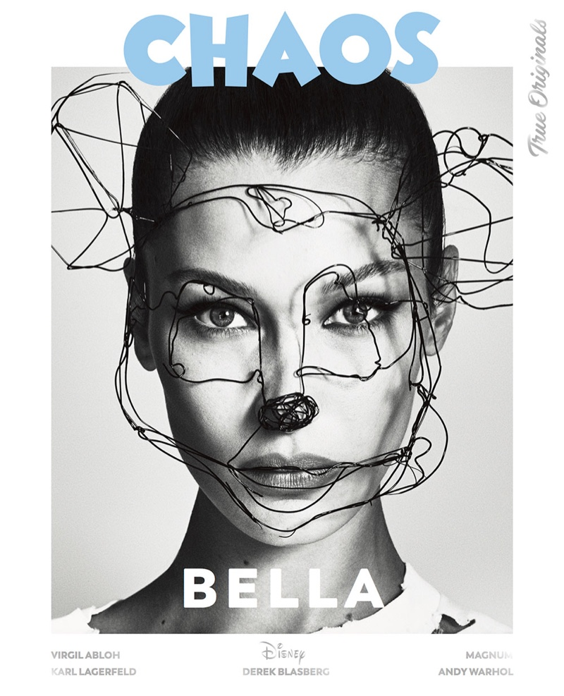 Bella Hadid on Chaos Magazine True Originals 2018 Cover
