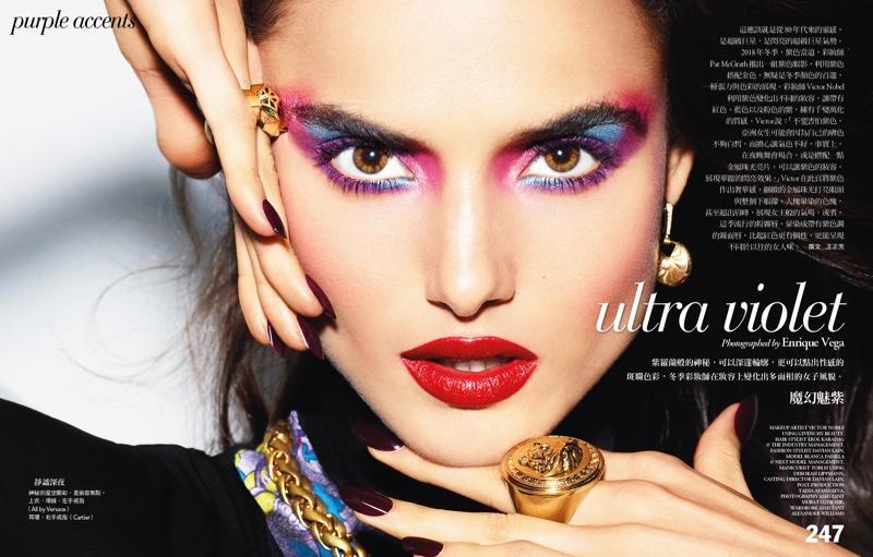 Blanca Padilla Models Luxe Makeup for Vogue Taiwan