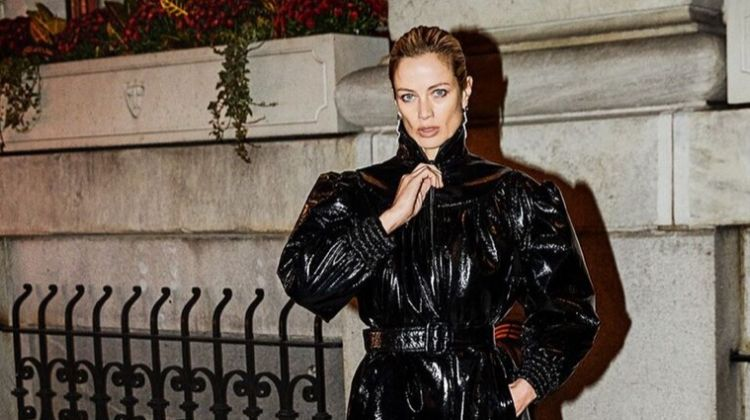 Carolyn Murphy Wears Nighttime Looks in Harper's Bazaar Greece