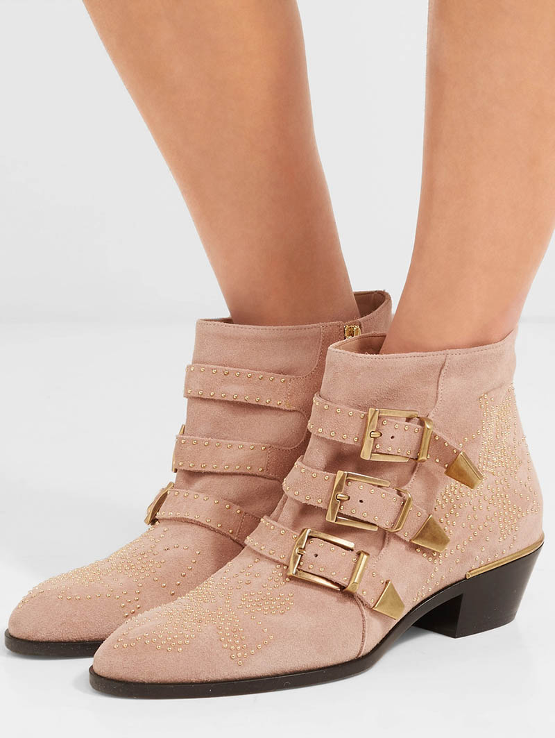 Chloe Susanna Studded Suede Ankle Boots $1,295