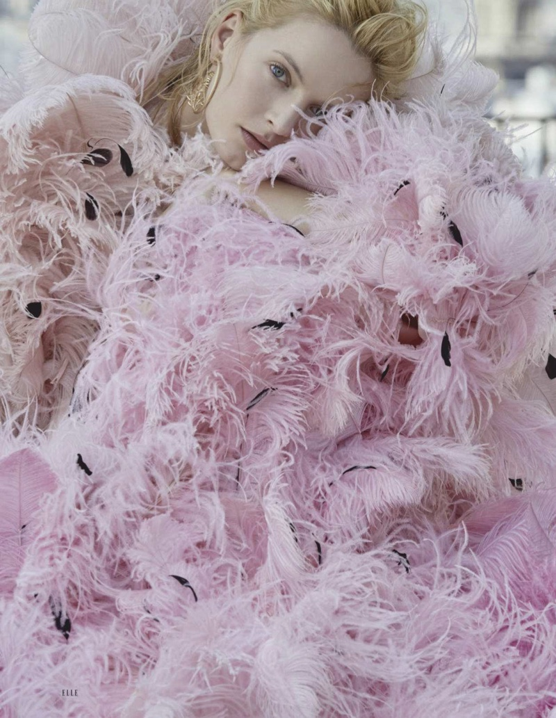 Daria Strokous Poses in Haute Couture Gowns for ELLE Russia