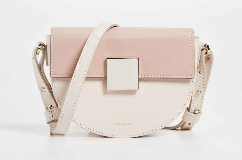 DeMellier The Mini Oslo Bag in Cream/Blush $385