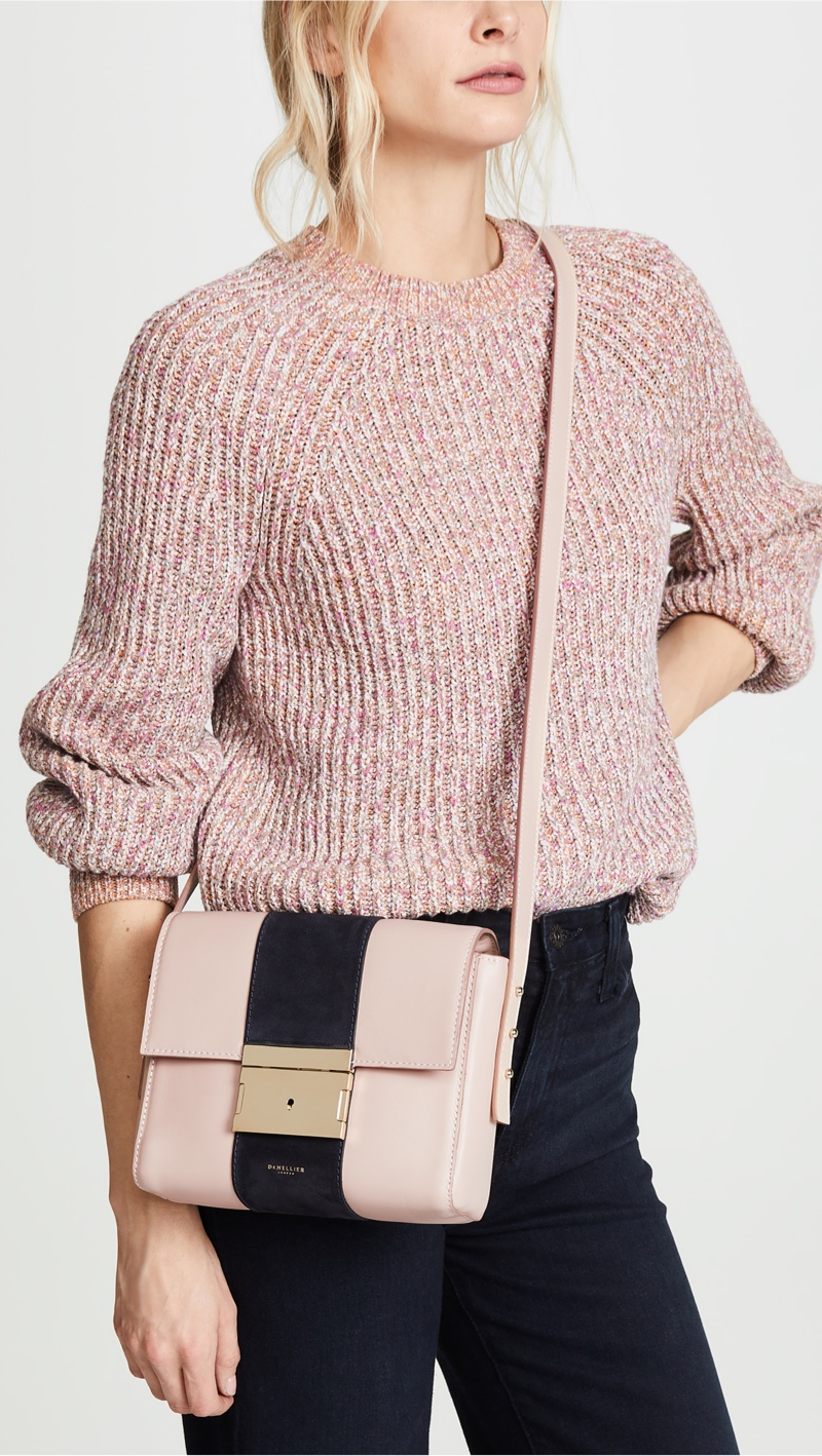 DeMellier The Vienna Bag in Blush/Navy $495