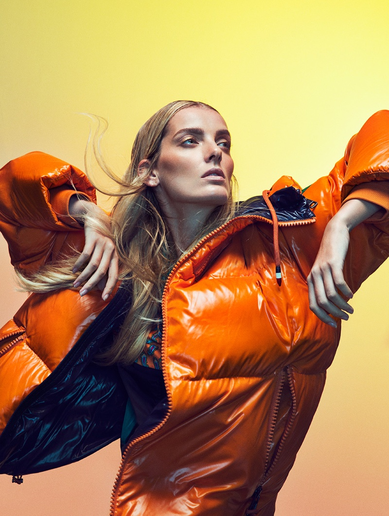 Denisa Dvorakova Wears Bold Outerwear in Woman Spain