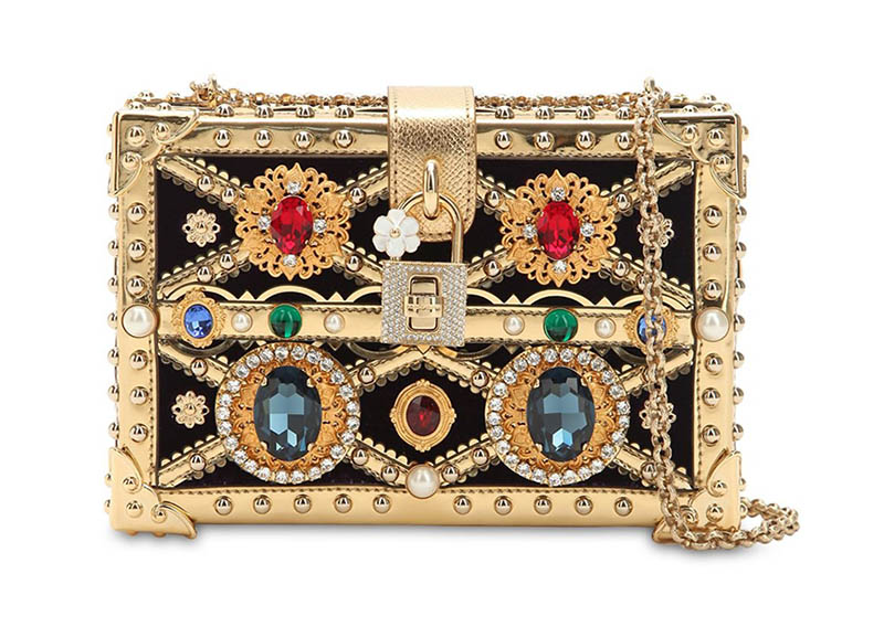 Dolce & Gabbana Dolce Box Jeweled Clutch $3,636 (previously $5,195)