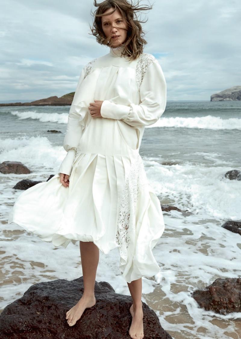 Drake Burnette is a Sea Siren in Harper's Bazaar UK