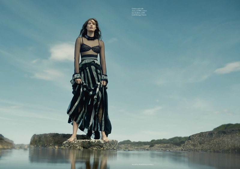 Drake Burnette is a Sea Siren in Harper's Bazaar UK
