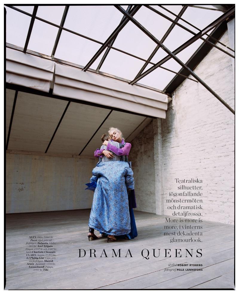 Pelle Lannefors Captures 'Drama Queens' for ELLE Sweden