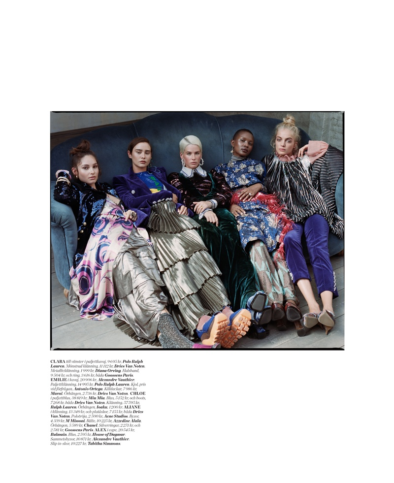 Pelle Lannefors Captures 'Drama Queens' for ELLE Sweden