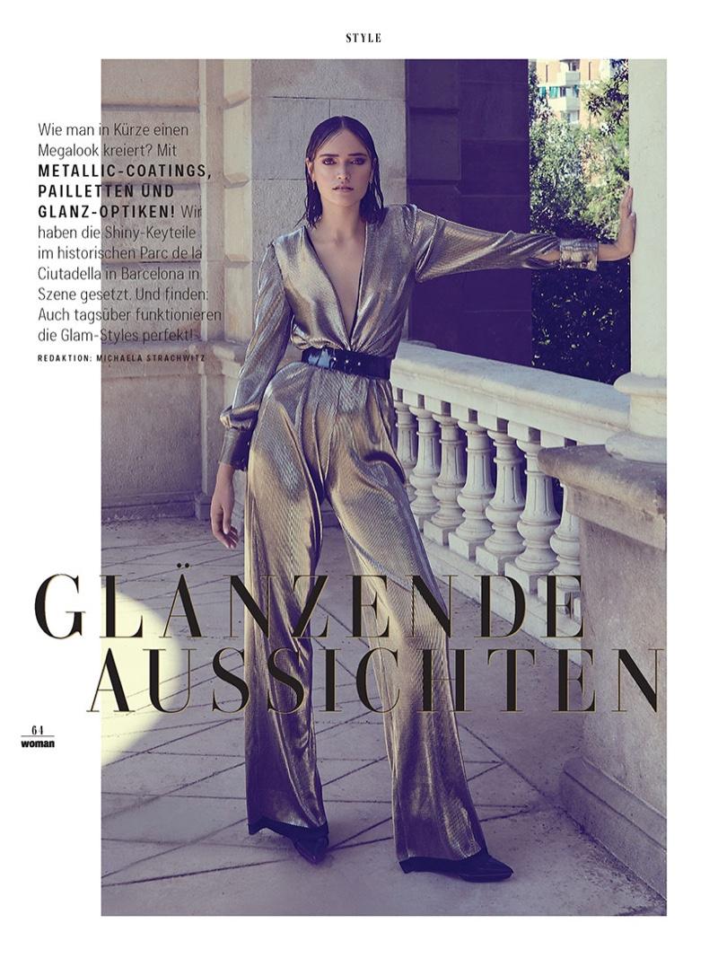 Ella Jayne BailyShines in Metallics for WOMAN Austria