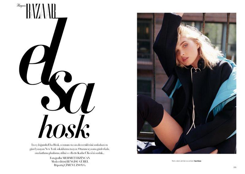 Elsa Hosk Wears Cool Street Style for Harper's Bazaar Turkey
