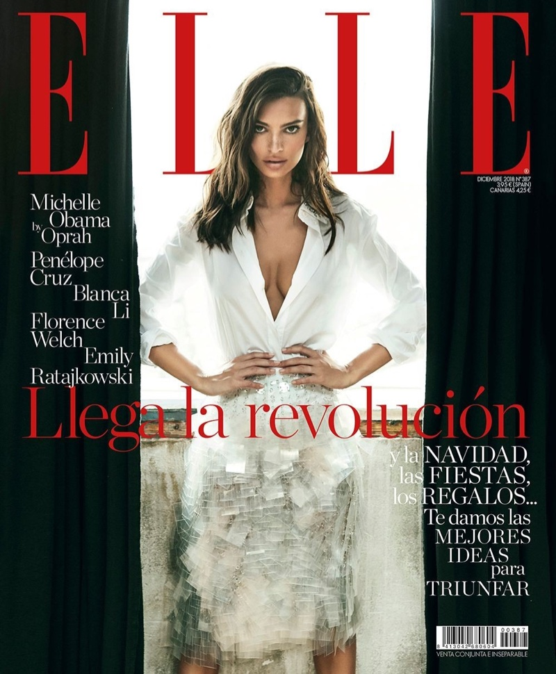 Emily Ratajkowski on ELLE Spain December 2018 Cover
