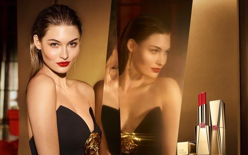 Grace Elizabeth fronts Estée Lauder Pure Color Desire Rouge Excess campaign