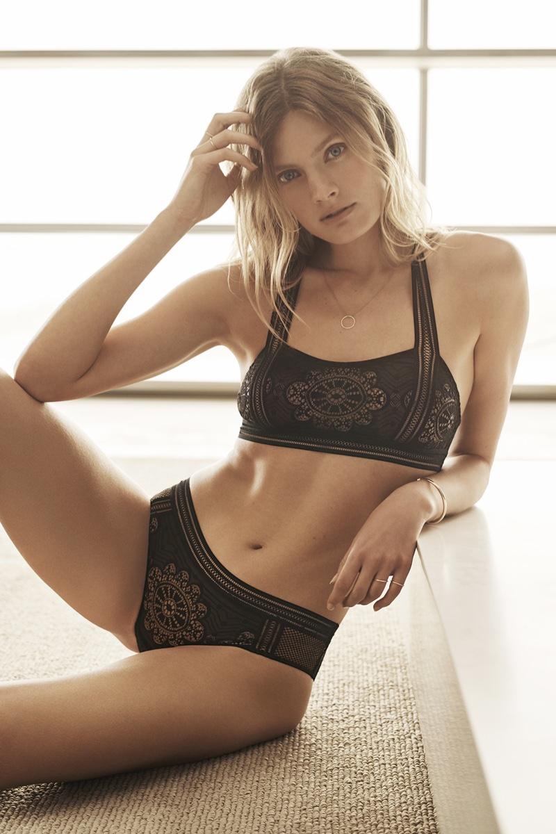 Constance Jabllonski wears the French brand's latest underwear styles