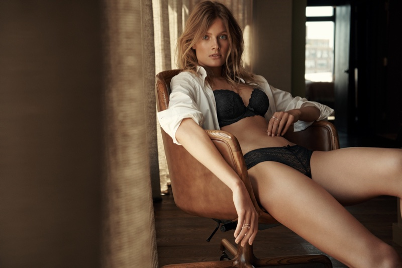 The French model is the face of Etam Lingerie's fall 2018 campaign