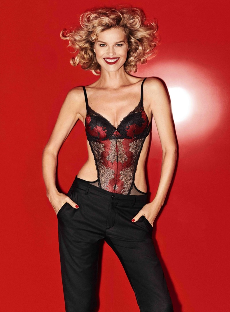 Czech model Eva Herzigova takes the spotlight for a new lingerie campaign from Yamamay