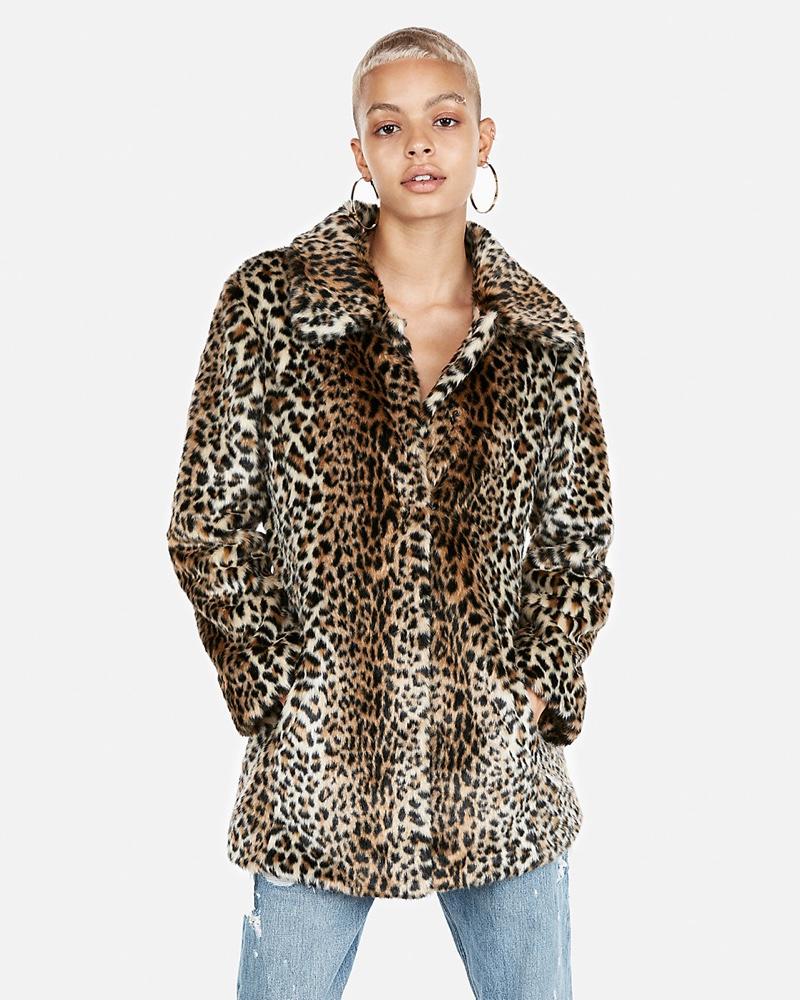 Express Faux Fur Leopard Print Coat $114 (previously $228)