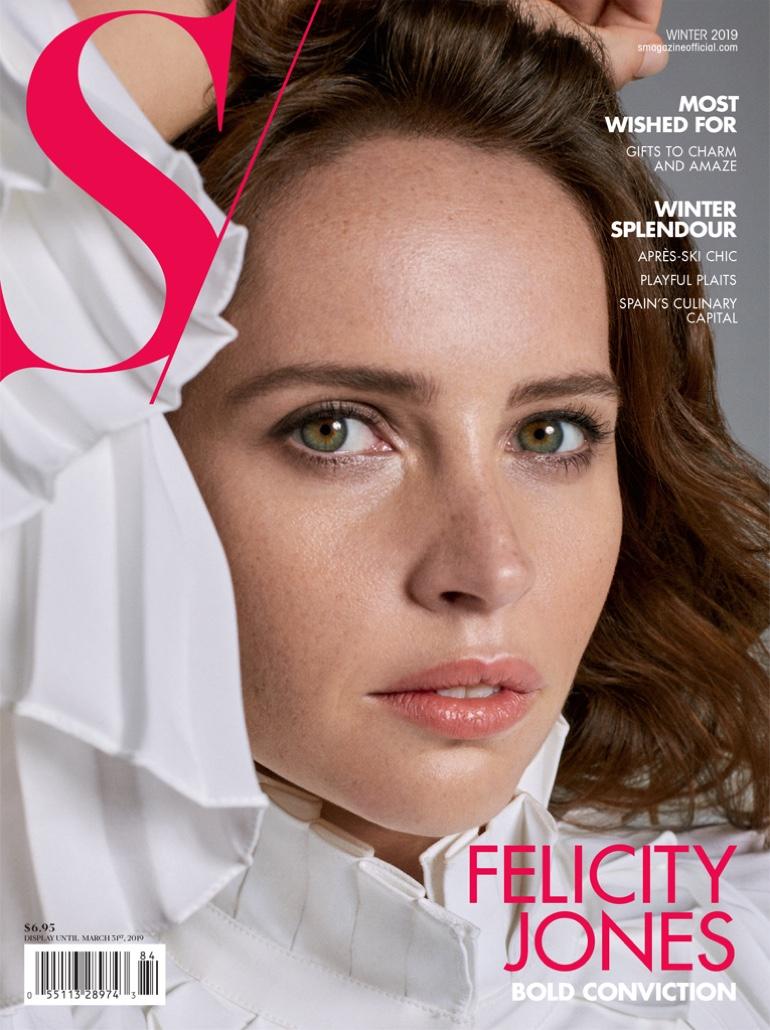 Felicity Jones on S Magazine Winter 2019 Cover
