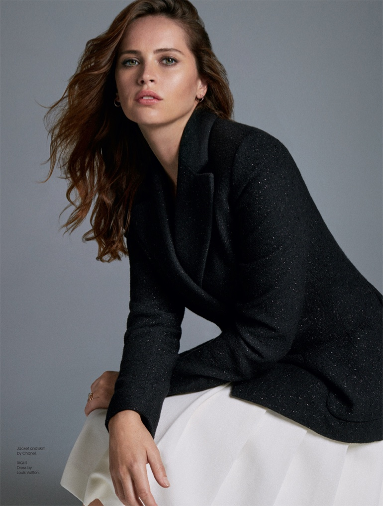 Felicity Jones Poses in Chic Looks for S Magazine