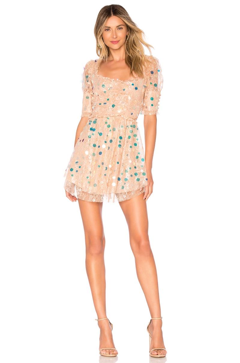 For Love & Lemons Ace Mini Dress $290