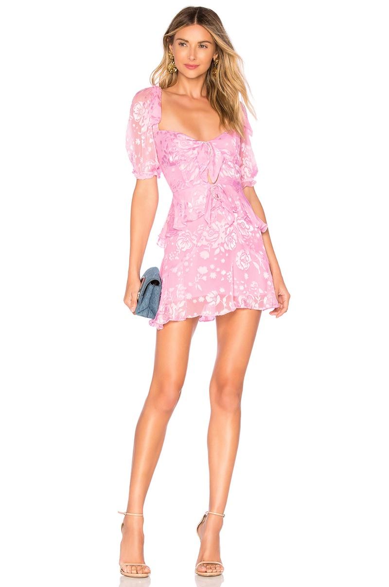For Love & Lemons Cosmo Mini Dress $282