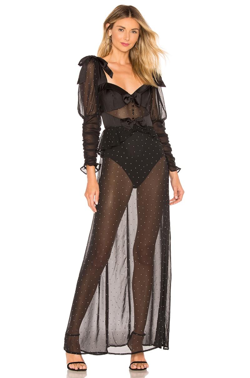 For Love & Lemons Lucky Dice Maxi Dress $282