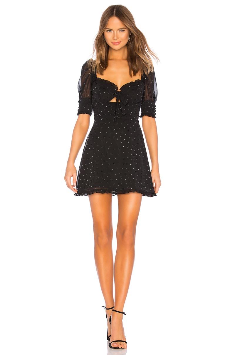 For Love & Lemons Lucky Dice Mini Dress $216