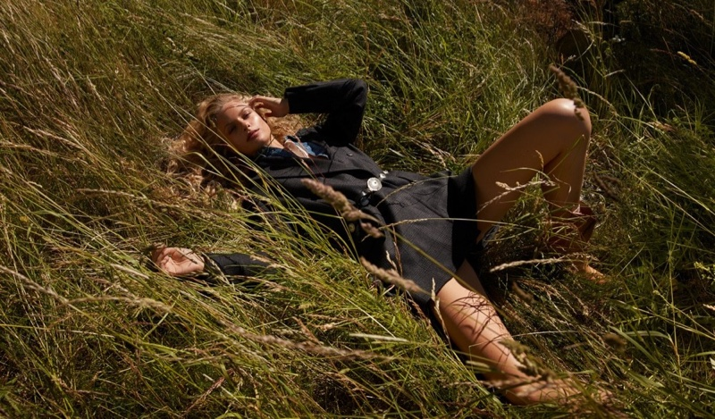 Fredrikke Sofie Poses in the Great Outdoors for Vogue Japan