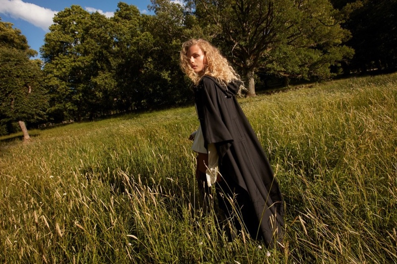 Frederikke Sofie Poses in the Great Outdoors for Vogue Japan