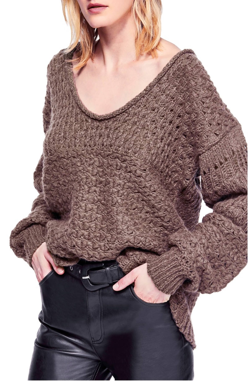 Free People Crashing Waves Pullover Sweater $75.52
