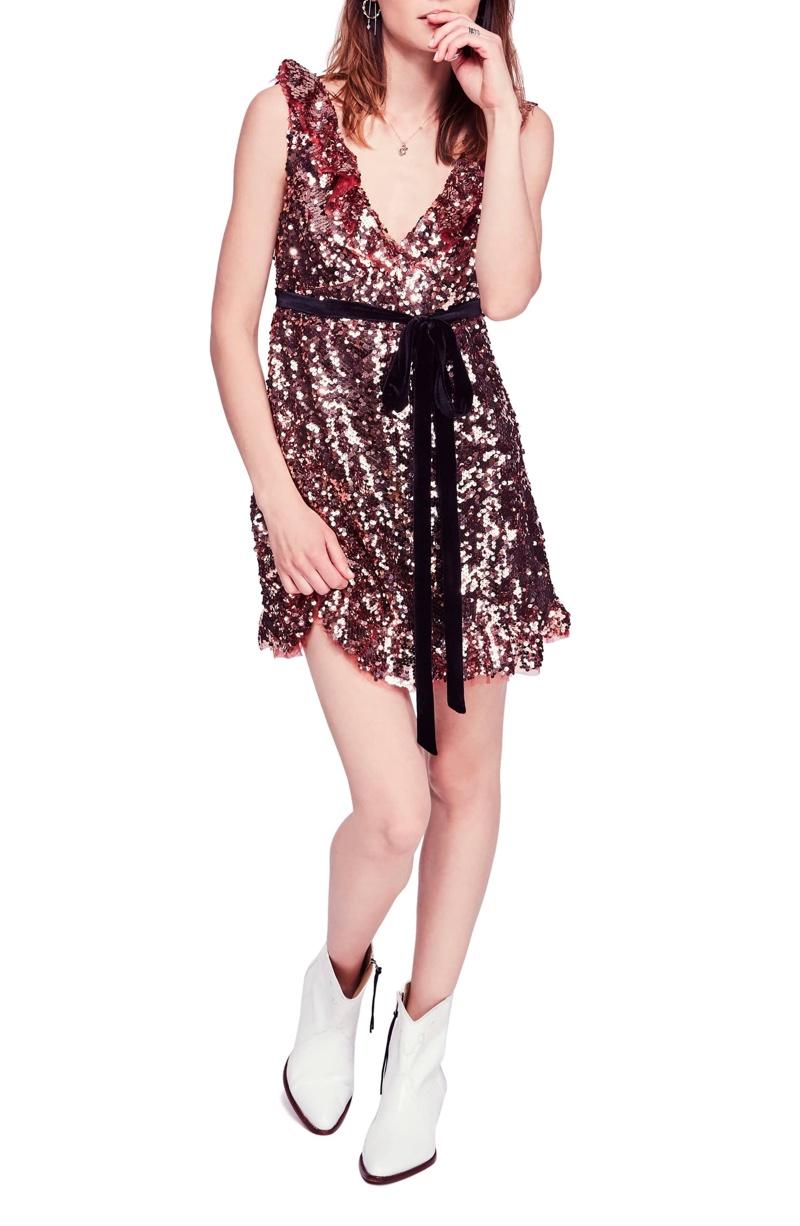 Free People Siren Sequin Dress $168