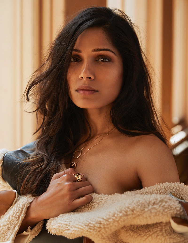 Freida Pinto Channels Western Style in Vanity Fair Italy