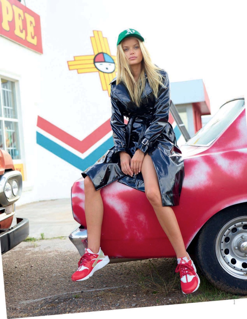 Frida Aasen Goes On a Stylish Road Trip for ELLE Italy
