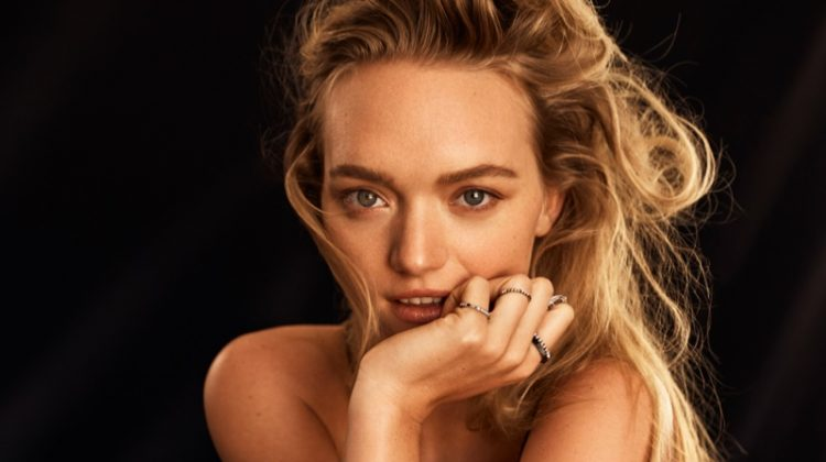 Gemma Ward models Empire collection from Hardy Brothers Jewellers