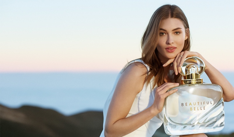 Grace Elizabeth stars in Estée Lauder Beautiful Belle Eau de Parfum campaign