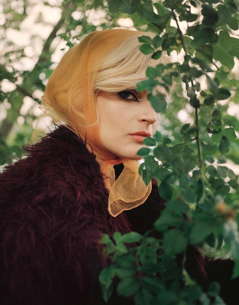 Guinevere van Seenus Wears Luxe Faux Fur for PORTER Magazine
