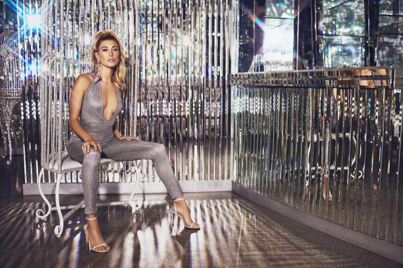 PrettyLittleThing Silver Glitter Halterneck Slim Leg Jumpsuit $38