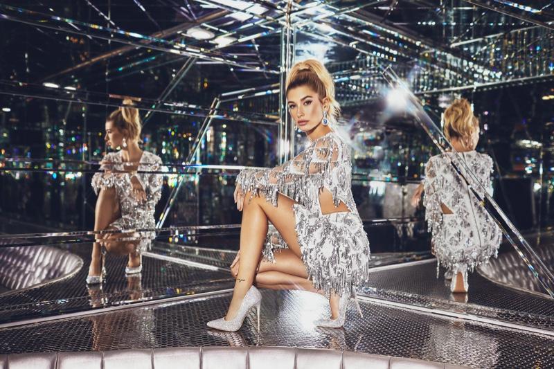 PrettyLittleThing Silver Tassel Sequin Bodycon Dress $105