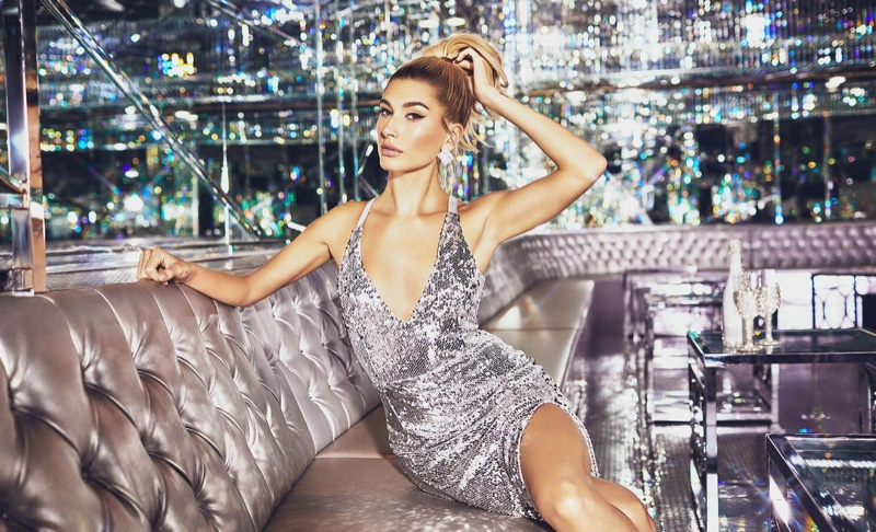 PrettyLittleThing Silver Sequin Strappy Back Maxi Dress $75